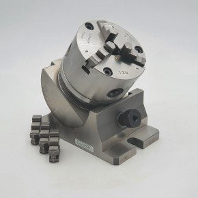 Indexing fixture inclinable three-jaw lathe chuck