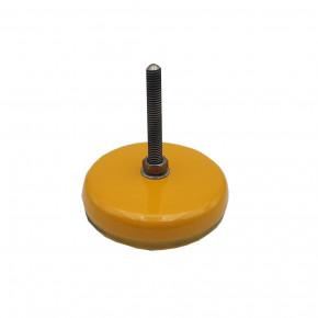 Vibration clamping machine foot