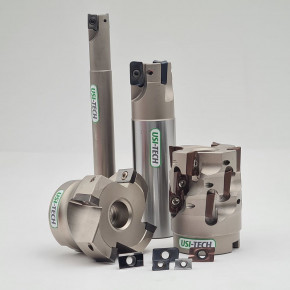 Face milling cutter with positive inserts