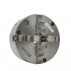 Four-jaw lathe chucks centre mount according to DIN 6350
