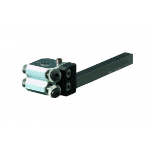 Cut knurling tool with 2 knurling wheels