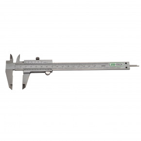Vernier caliper with lower screw