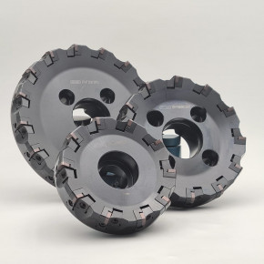 75° face milling cutter for double sides inserts with 8 cutting edges